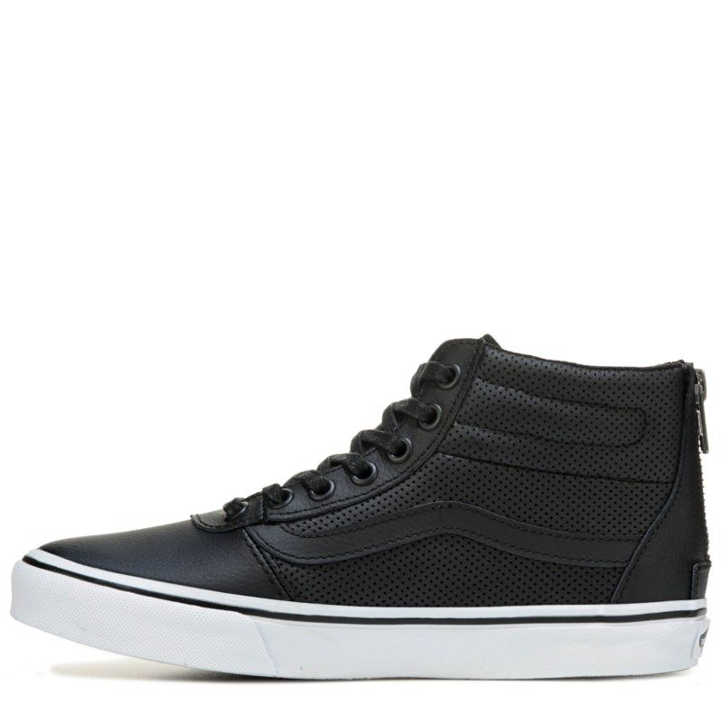 8cb7054e44 Vans Women s Milton Leather High Top Sneakers (Black Perforated) - 9.0 M