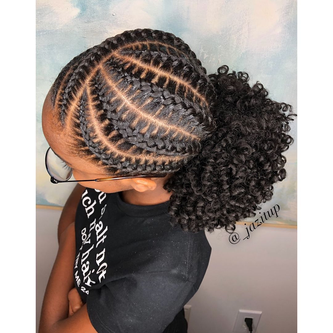 Jazmin Davidson On Instagram Underbraids With A Pony I Love This Style So Much And It Loo Braided Hairstyles For Teens Hair Styles Kids Braided Hairstyles