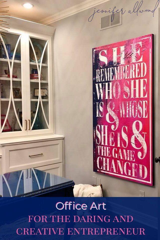 How to's : The Most Beautiful Canvas for the Christian Entrepreneur by Jennifer Allwood #christian #businesswoman #entrepreneur #homedecor #office #homeoffice #officeart #artdecor