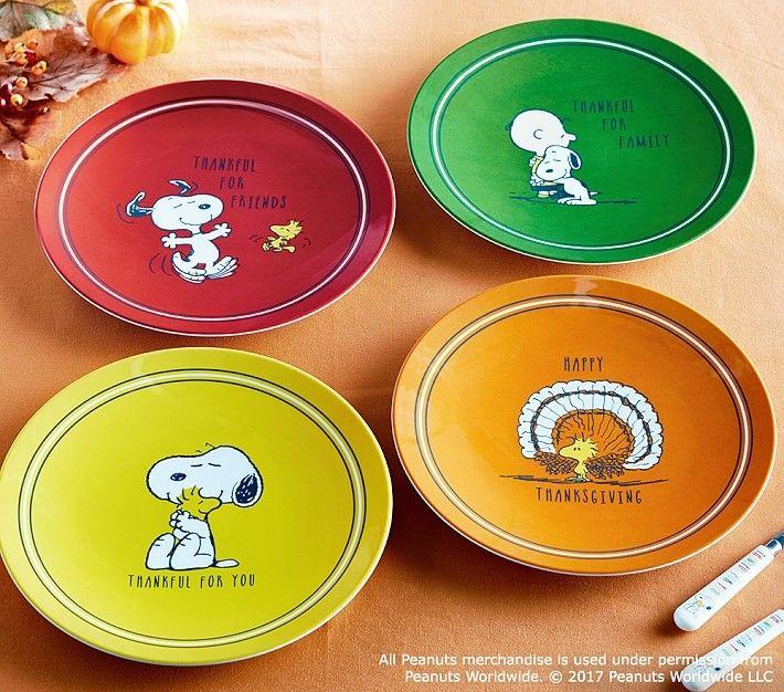 Peanuts 174 Thanksgiving Plate Snoopy 174 Woodstocktm