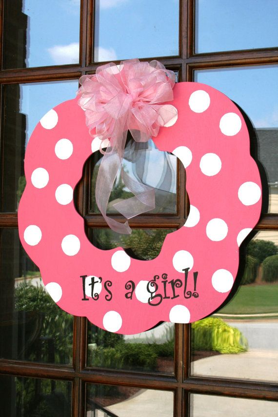 It's a girl door wreath. I need to make this too!! -Kristin