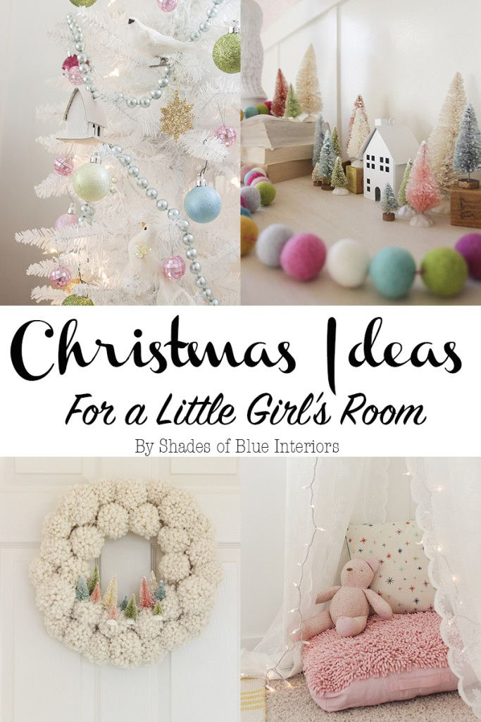 Christmas Ideas for a Little Girl's Room + PomPom Wreath images
