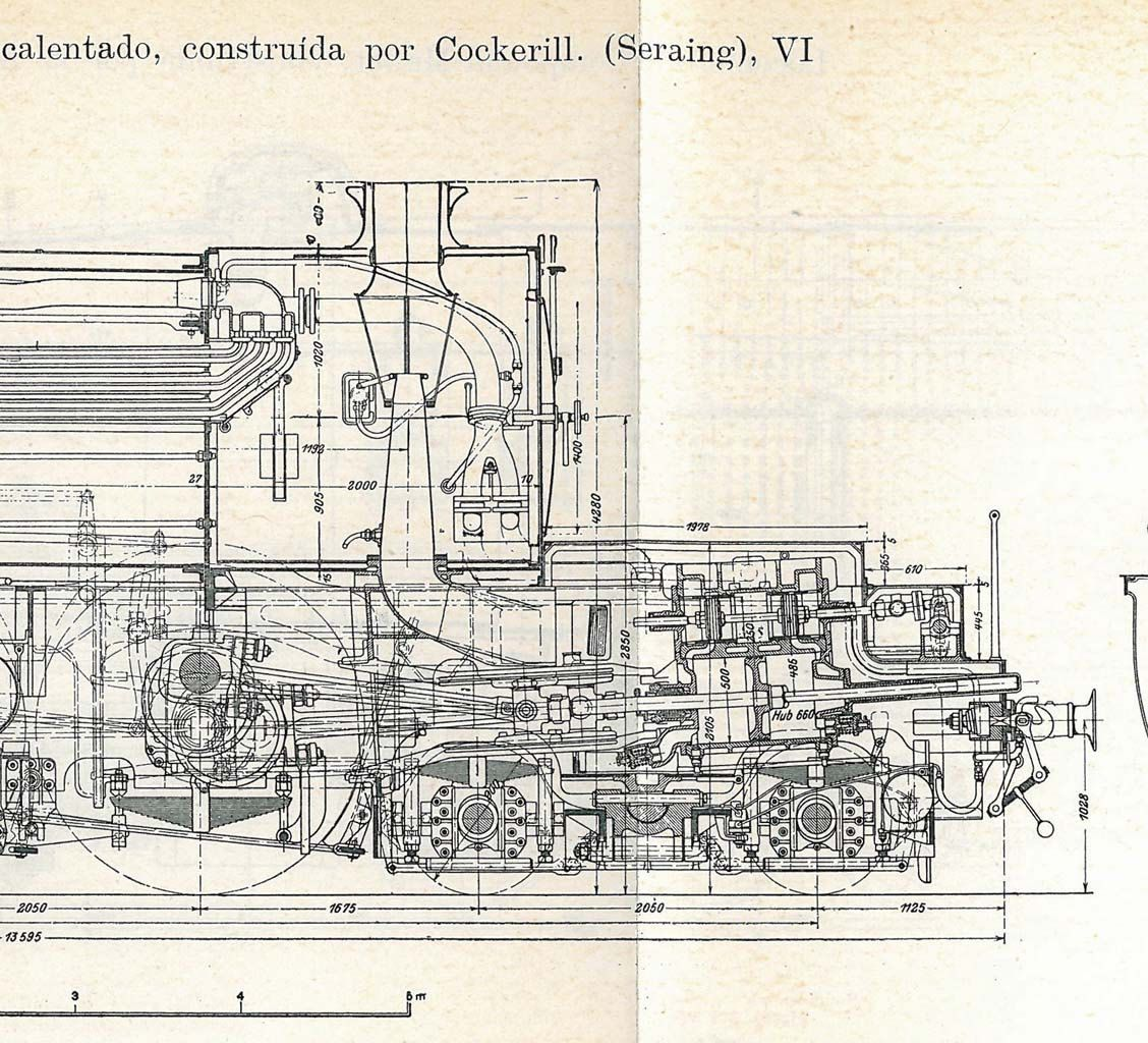 Locomotives Vintage Technical Drawing Engineering By Carambas