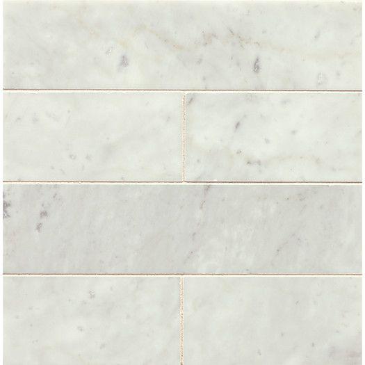 Bedrosians Honed 3 X 12 Marble Field Tile In White Carrara