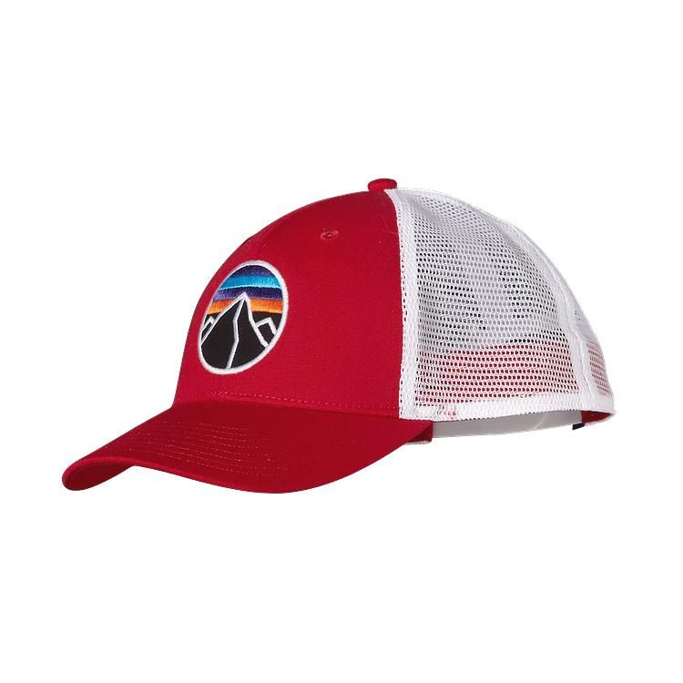 f1bab851 Patagonia Fitz Roy Emblem LoPro Trucker Hat - Red Delicious RDS ...