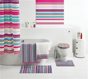 Buy Bright Stripe Shower Curtain From The Next UK Online Shop