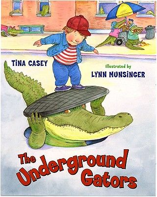 Have you ever heard the urban legend about alligators living in the sewers of New York City?  Tina actually worked in the sewers of New York City for the Department of Environmental Protection, so she knows the real scoop on alligators living under the Big Apple.  This a delightful, imaginative story about NYC alligators that also explains such mysteries as to why school buses are yellow and socks go missing from the washing machine.