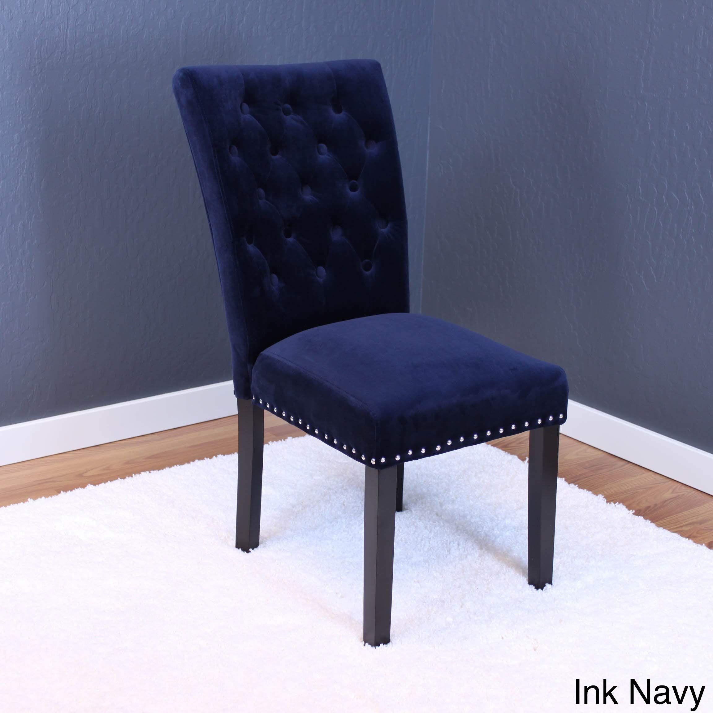 Monsoon Markelo Tufted Velvet Dining Chairs (Set of 2