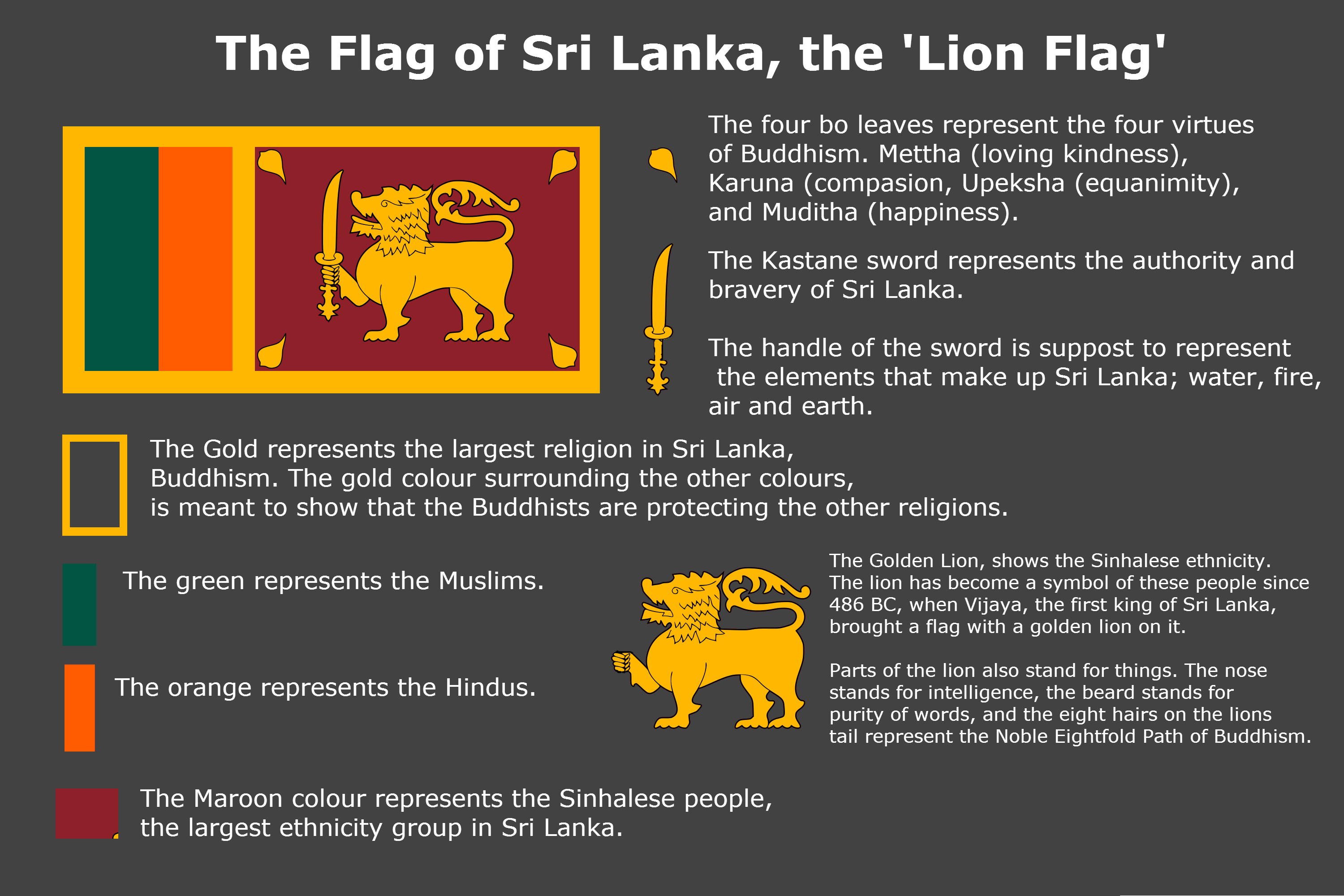 Pin by aimene bahri on flags meaning pinterest flags meaning of sri lankas flag vexillology biocorpaavc Gallery