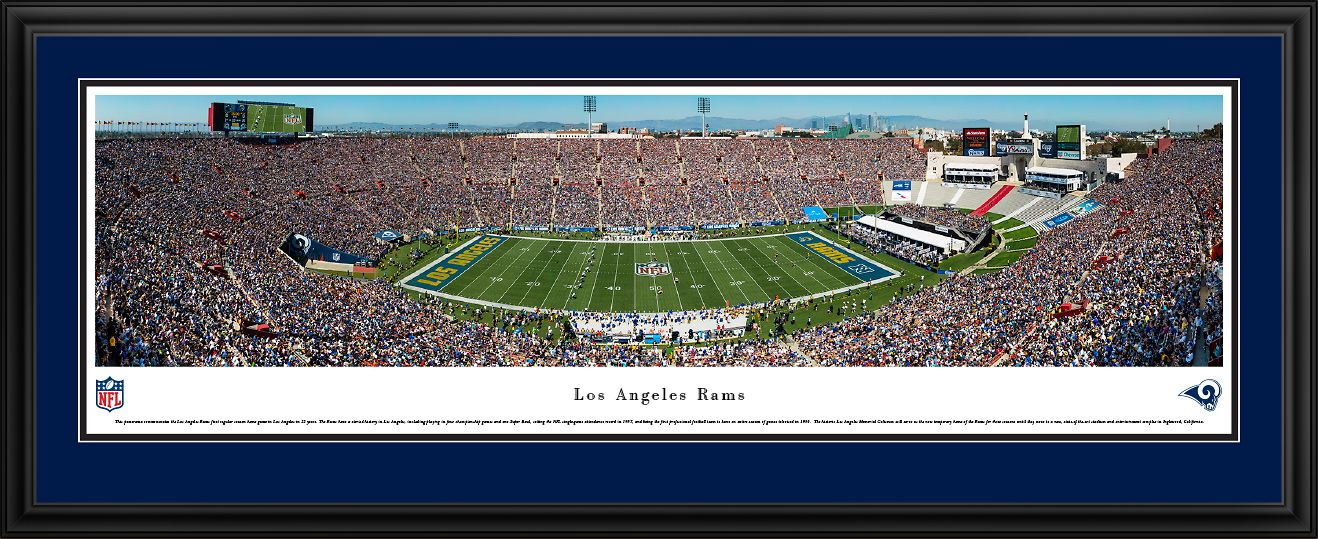 Los Angeles Rams Panoramic Picture Los Angeles Memorial Coliseum Panorama Panoramic Pictures Los Angeles Rams Panoramic Print