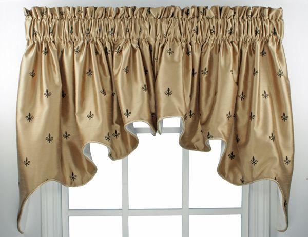 Fleur De Lis Curtain Valance Paul S Home Fashions Window Toppers Custom Curtain Rods Home Comforts