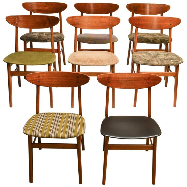 Mid Century Scandinavian Dining Teak Chairs 1960s Dining Chairs Scandinavian Dining Chairs Danish Modern Dining Chair