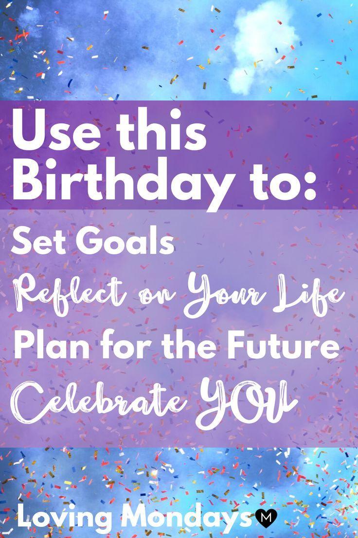 Birthday reflection kit printable planner gift for