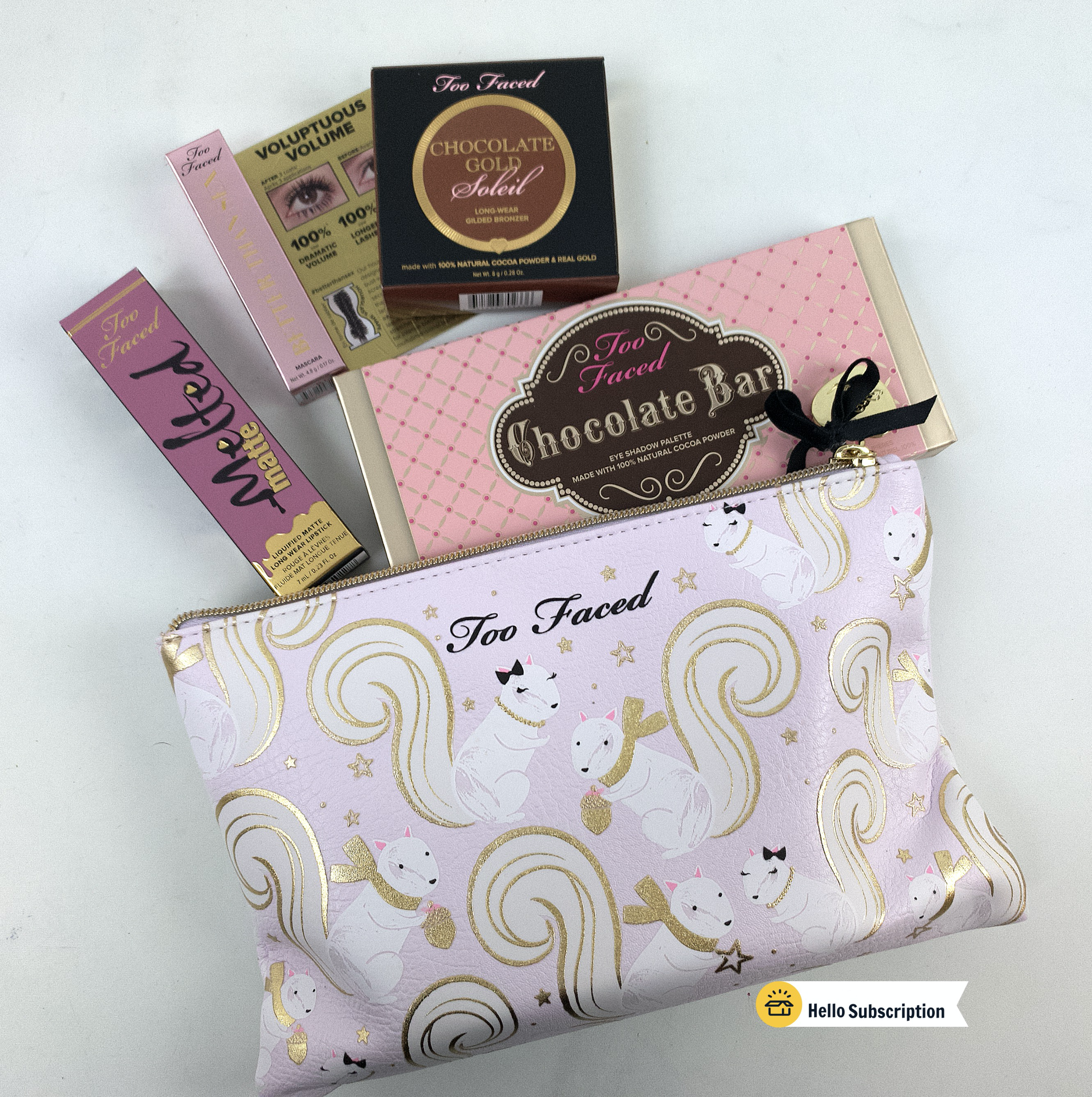 Too Faced Mystery bag, Makeup items, Chocolate gold