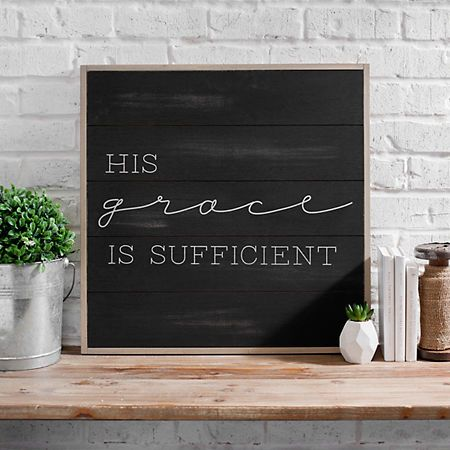 His grace is sufficient wall plaque also best new house images in diy ideas for home future rh pinterest