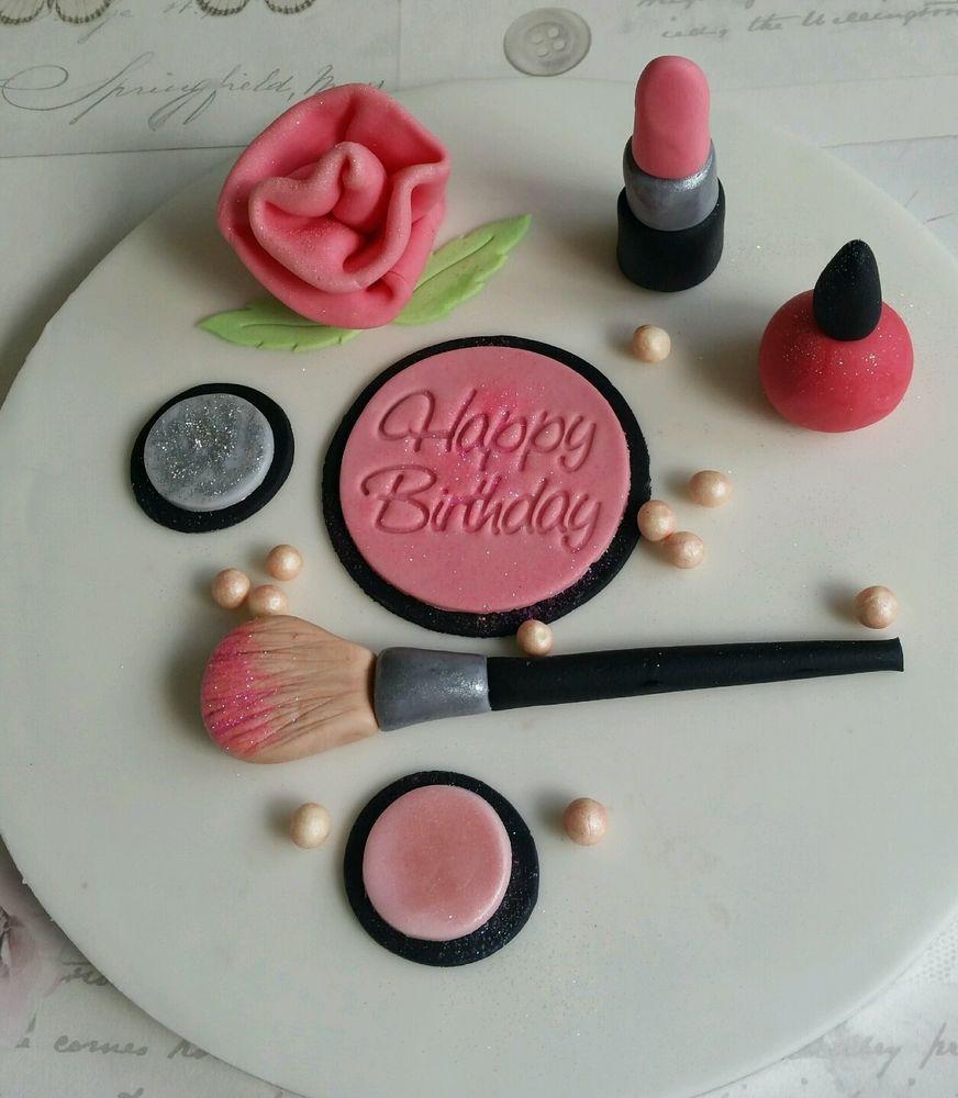 Edible Makeup Cake Decorations