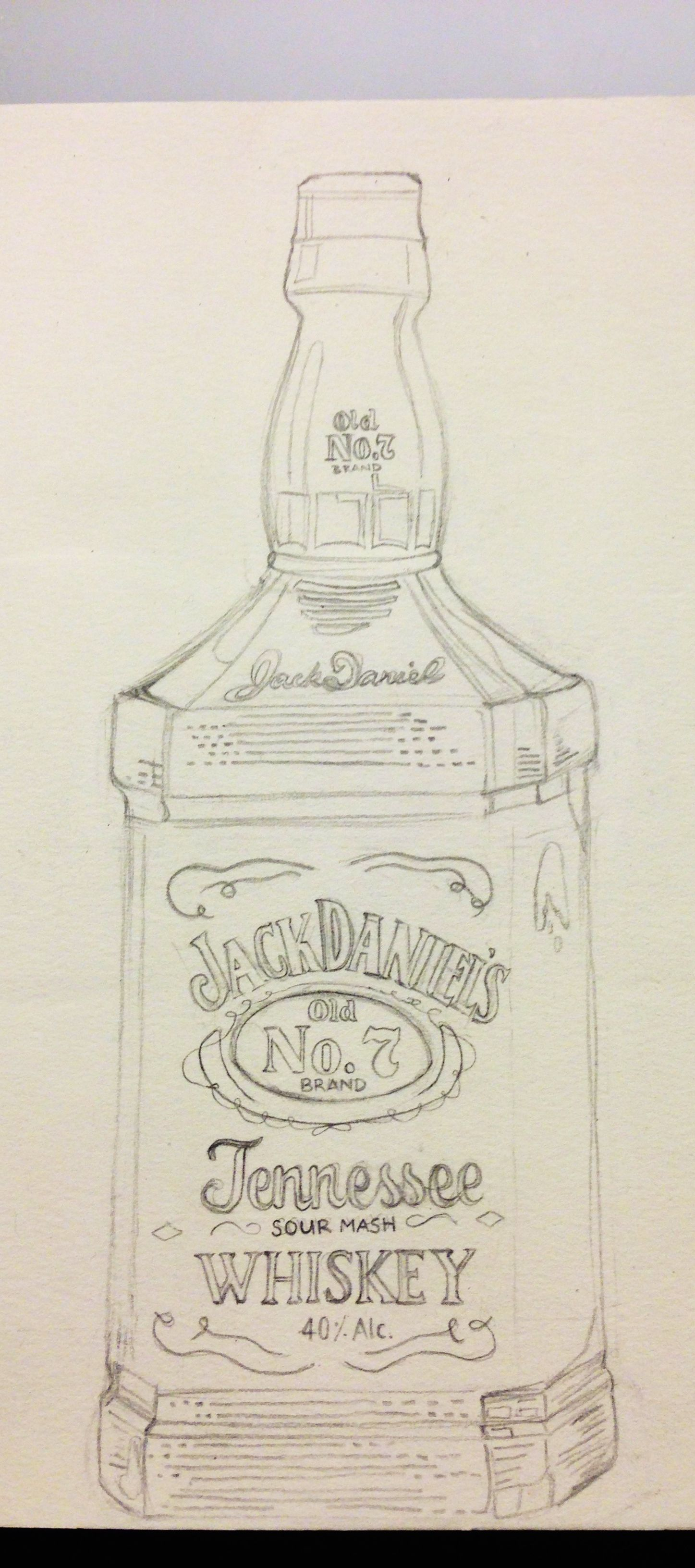 Jack daniel drawing aquarelle pinterest tutoriels for Pochoir jack daniels
