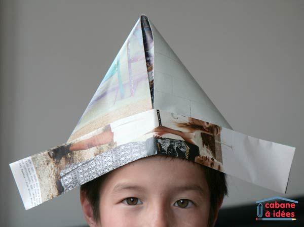 prix plus bas avec comment acheter sur des coups de pieds de Fabriquer un chapeau de fête, avec du papier journal ...