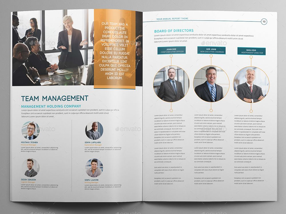 Annual report miao professional business brochure pack