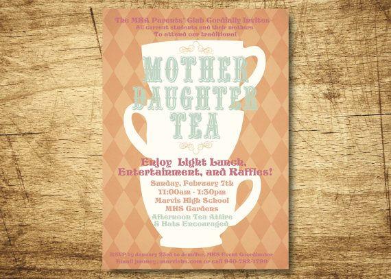 Mad Hatter Tea Party Invitation Tea party invitations Mad and Teas
