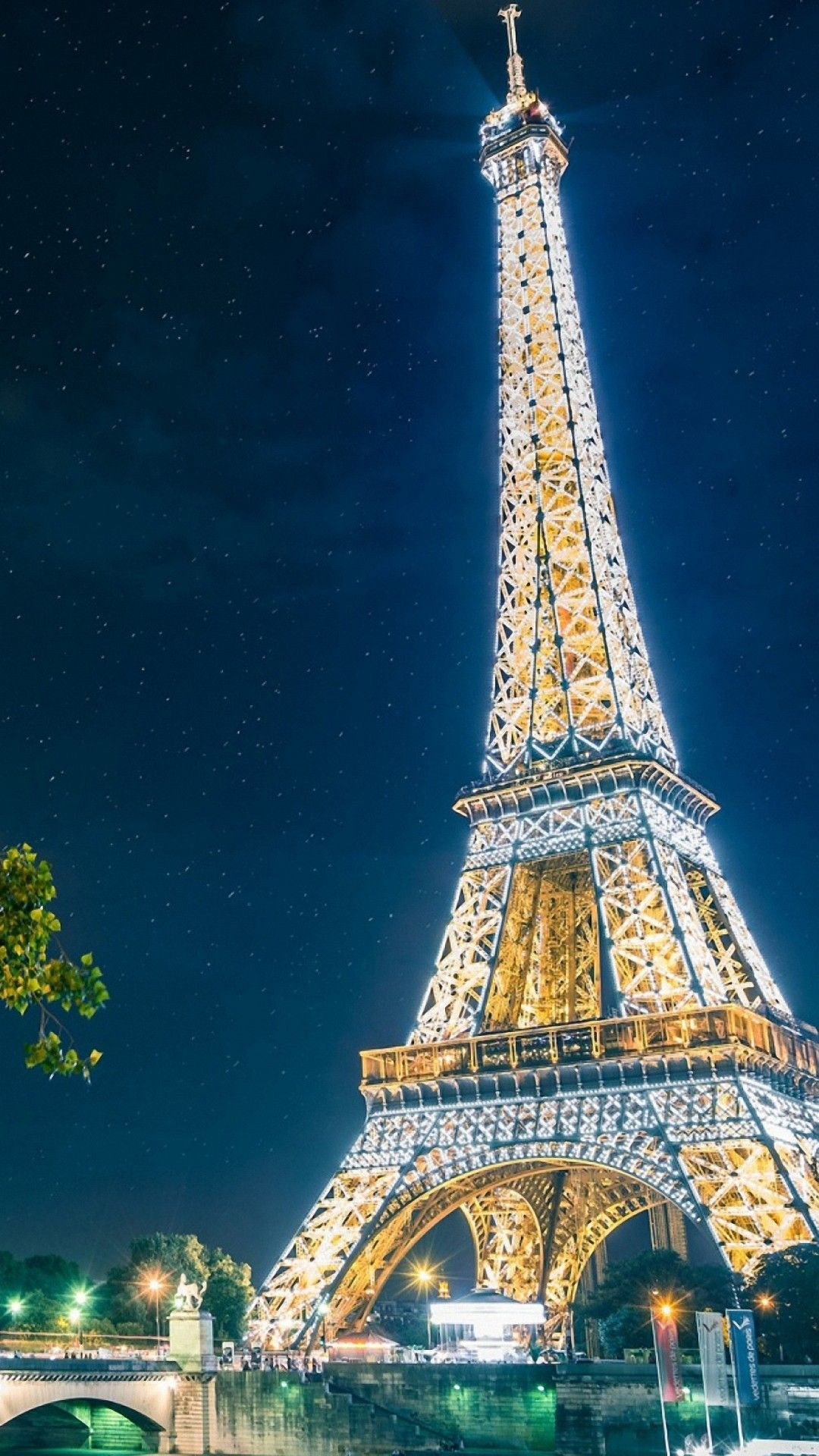 Eiffel Tower at night iphone wallpapers Pinterest