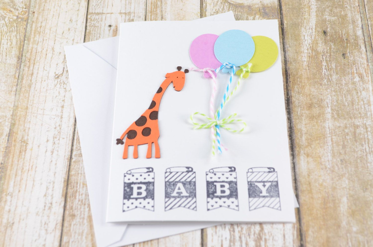 Baby Shower Card New Baby Card Baby Animal Greeting Card Its