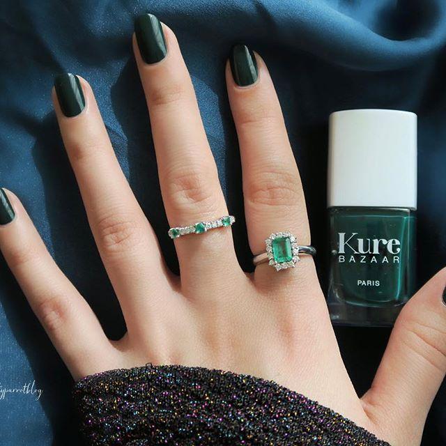 Fall Green Manicure Trends Kure Bazaar Nail Polish Kale | Fall ...