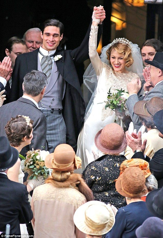 Blushing Bride Blake Lively Kisses The Groom On Set Of New Movie But Real Husband Ryan Reynolds Gives The C In 2020 Bridal Gowns Vintage Blake Lively Blake And Ryan