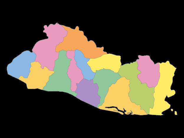 Multicolor Map Of El Salvador With Departments Free Vector Maps Map Vector Vector Free Map