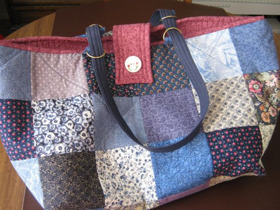 Love this all-purpose bag by JDCreative Hands: Large Blue Knitting Tote Bag Large Crochet Tote by JDCreativeHands, $39.00