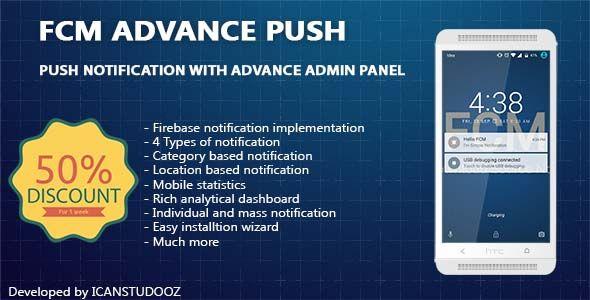 Firebase Push Notification android /FCM + Advance Admin Panel