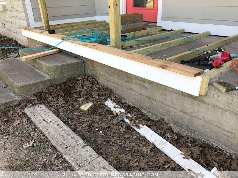 Best More Front Porch Progress Building A Wood Porch Over An 400 x 300