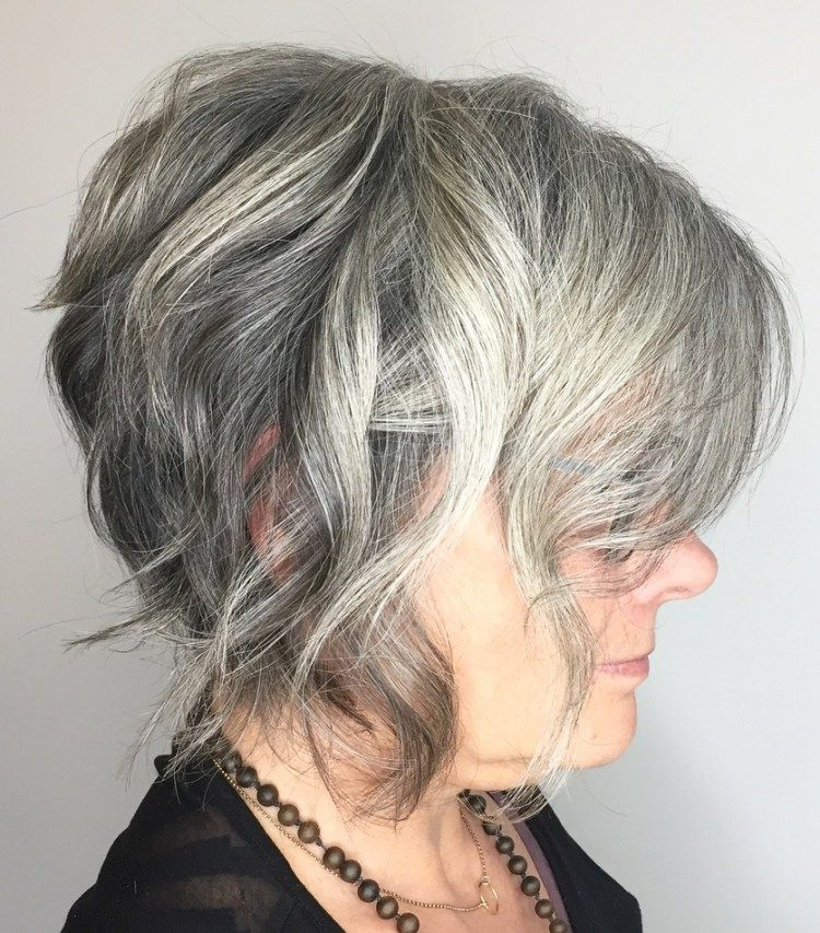 65 Gorgeous Gray Hair Styles in 2020 | Grey bob hairstyles, Long gray hair, Short wavy hair