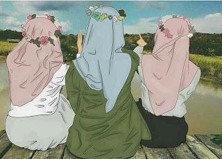 kartun sahabat muslimah terbaru in 2020 Hijab cartoon