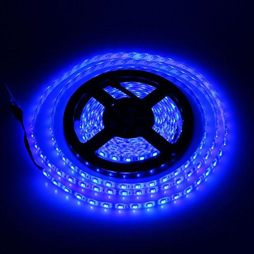 Uplights Smd3528 Waterproof Blue Led Strip Light 5m 16 4ft Roll 300leds Dc 12v Led Light St Led Strip Lighting Led Tape Lighting 12v Led Strip Lights