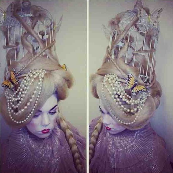 bird cage marie antoinette hair