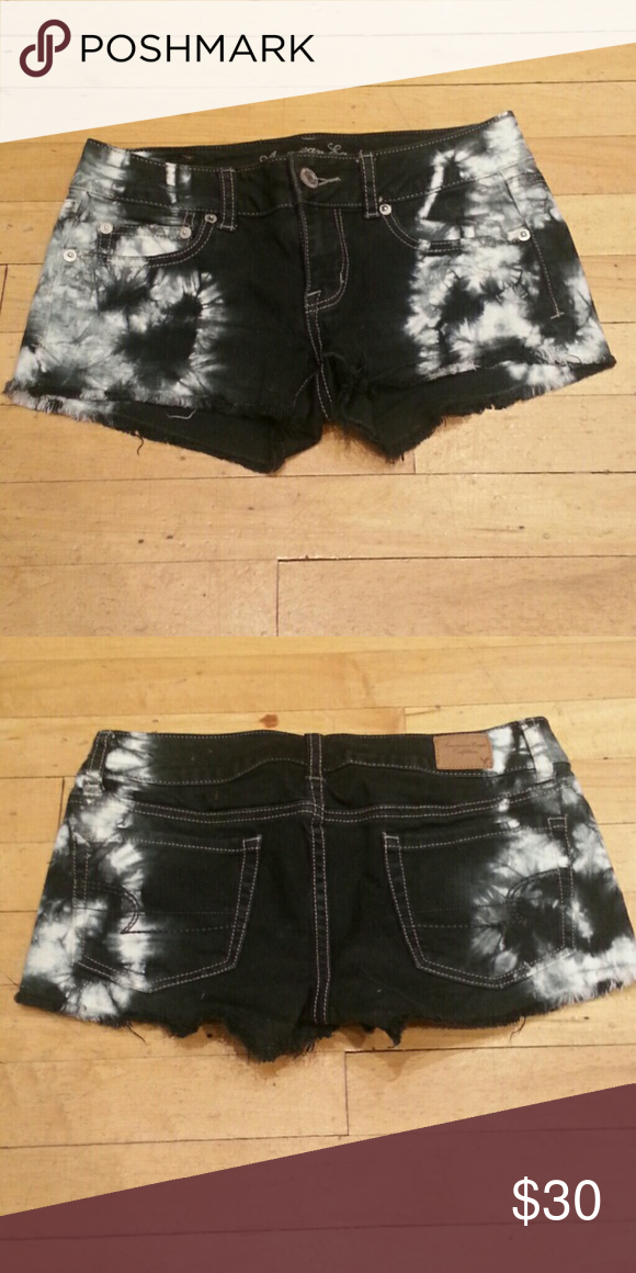 Tie-dye shorts Tie-dyed shorts. So cute! American Eagle Outfitters Shorts Jean Shorts