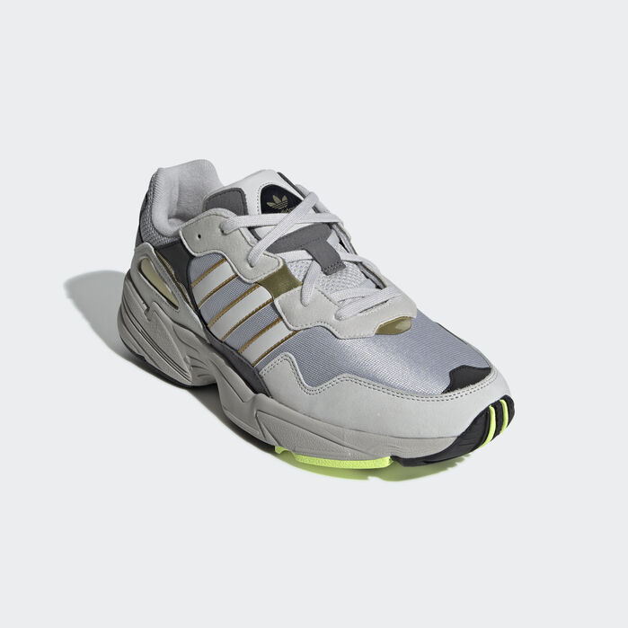 adidas white & silver yung 96 trainers toddler