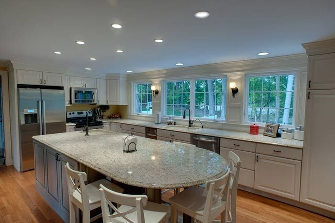 Nice 47 Adorable Kitchen Island With Intriguing Layouts Kitchen Island Designs With Seating Round Kitchen Island Kitchen Layout