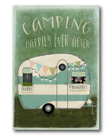 Another great find on #zulily! 'Camping' Wall Canvas #zulilyfinds