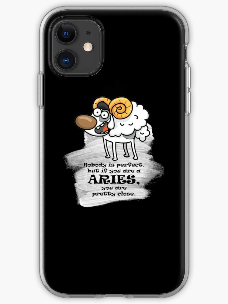 'Aries, funny horoscope' iPhone Case by sabinamale in 2020