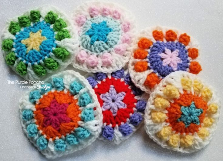Flower Pop Granny Square Blanket #grannysquareponcho Flower Pop Granny Square Bl...  Flower Pop Granny Square Blanket #grannysquareponcho Flower Pop Granny Square Blanket – The Purpl #GrannySquareBlanket #grannysquareponcho