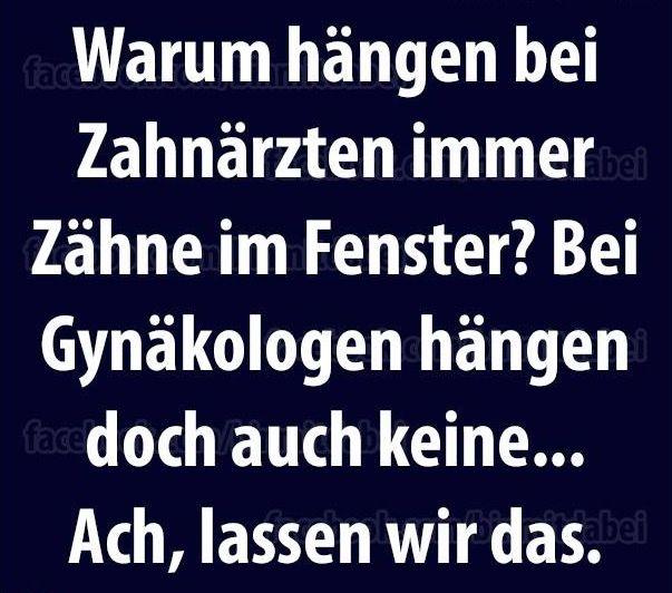 #zahnarzt vs. gynäkologe #werbung