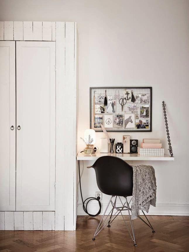 Un escritorio para espacios peque os escritorio - Escritorios para espacios reducidos ...