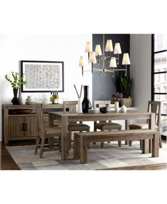 Canyon 6 Piece Dining Set Created For Macys 72 Table 4 Side Chairs Bench