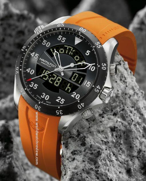 7af79db26b9 Hamilton Khaki Flight Timer analog-digital quartz watch