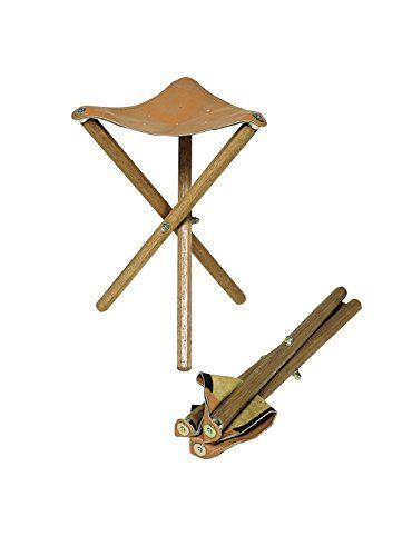 Jack Richeson Three Leg Wood Artist Folding Stool Saddle