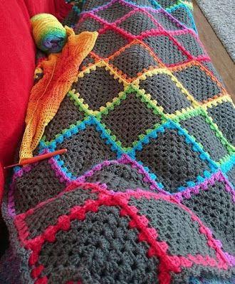 Mantas crochet con patrones tejido patrones de mantas - Mantas de ganchillo para sofas ...