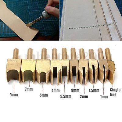 Leather Craft Steel Press Line groove Edge Decrate solder iron Tip creasers Tool
