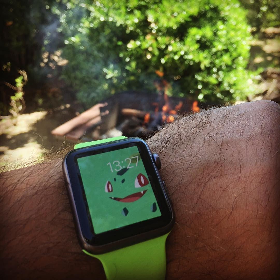 Bulbasaur Hunting In Progress Applewatch Applewatchsport Pokemon Pokemongo Pokestop Garden Summer Apple Watch Wristbands Apple Watch Sport Apple Watch